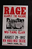 rage against the machine framed - Rage_Against The Machine 1997 Tour Poster (Art Wall Canvas Framed Poster, 11 x 14)