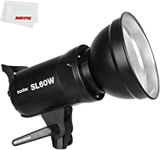 Godox SL-60W CRI 95+ LED Video Light SL60W White 5600K Version 60WS Bowens Mount + Remote Controller + Reflector