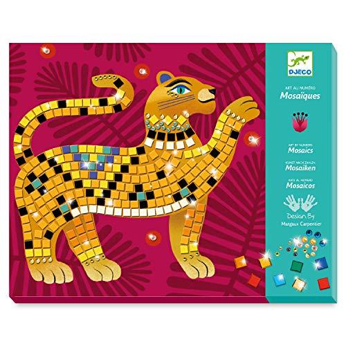 Djeco Kinderkunst Mosaik Glitzer: Im Herzen des Dschungels