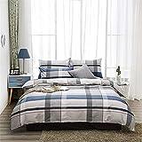 tongfu Bettwäscheset und Bettbezug aus Mikrofaser, 4-teilig, 1,8 m, Rime 200 x 230 cm, Bettlaken 250 x 230