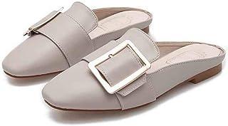 Women's Mule Slide Backless Slip On Clogs Low Heel Flats Loafers Slipper Shoes
