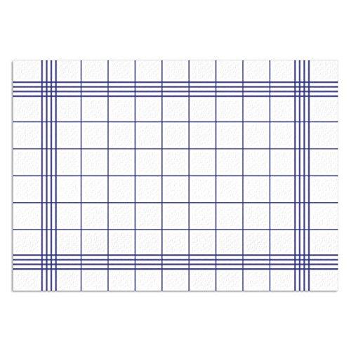 100 Tovagliette da tavolo motivo giardinaggio quadrettato scozzese bianche-blu I DIN A3 quadrate I Set Tovagliette di carta moderne, Set tovagliette da tavolo usa e getta I dv_550