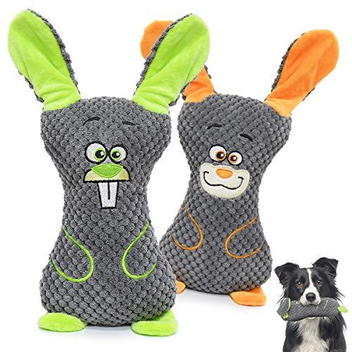 V-HANVER Welpenspielzeug, Interaktives Spielzeug, Zahnen Spielzeug Hund, Kauspielzeug und Quietschende Plüsch Hundespielzeug, Dauerhaft Hundespielzeug für Welpe Kleine Mittel Hunde