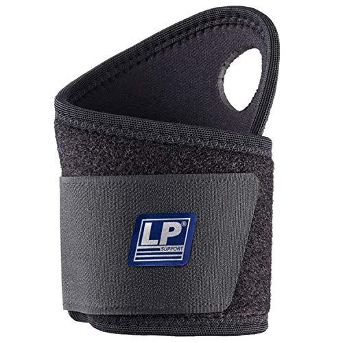 LP Support 739-KM atmungsaktive Neopren Handgelenk-Bandage, Wrist-Wraps für Powerlifting, Bodybuilding, Größe:Universalgröße, Farbe:1 x schwarz