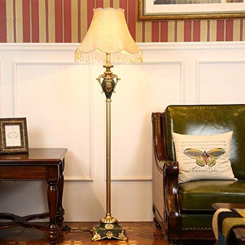 ZIXUANJIAXL Stehende Stehlampen Stehleuchte Harz Stoff 50 * 170cm Wohnzimmer European Creative Luxus American Retro Studie Schlafzimmer Nachttischlampe Stehleuchte