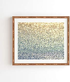 "Deny Designs Lisa Argyropoulos Snowfall Framed Wall Art, 19"" x 22.4"", Blue"