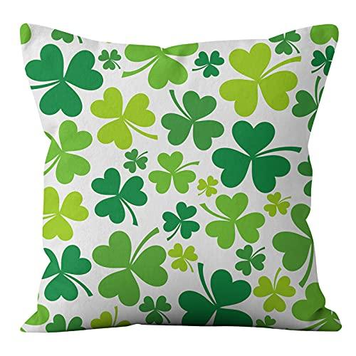 MissW Funda De Almohada Decorativa Pequeña Serie Verde Fresca Y Simple Lavable Sin Funda De Cojín con Núcleo De Almohada Adecuada para Oficina Sofá Coche