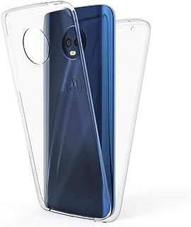 692efa61c94 NALIA Funda Integral para Motorola Moto G6 Plus, Carcasa Completa con  Cristal Templado, Fina