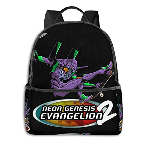 XCNGG Anime Evangelion Pro Skater 2 Classic Student School Bag School Cycling Leisure Travel Camping Outdoor Backpack