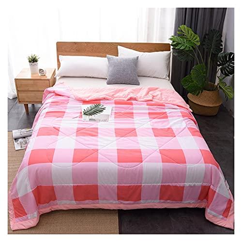 Zasinege Edredón de verano suave, transpirable, manta de avión para oficina, sofá, cama, colcha de cama, colcha (color: A 06, tamaño: 200 x 230 cm)