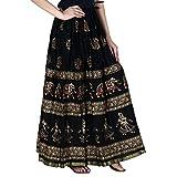 Home Shop Gfit Women Maxi Skirt (NANCY_128_Black_Free Size)
