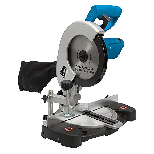 "Silverline 262705 - 1400W 210mm (8¼"") DIY Compound Mitre Saw 230V"