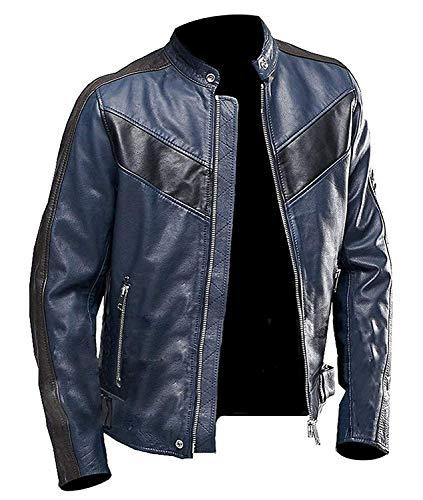 Chaqueta de piel para hombre con armadura color marr/ón LeatherTeknik DC-4090