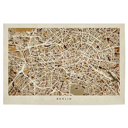 artboxONE Poster 90x60 cm Städte/Berlin Berlin Germany Street Map - Bild Berlin map Karte von Berlin Stadtkarte