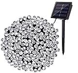 BrizLabs Guirnalda Luces Exterior Solares, 22M 200 LED Cadena de Luz Solar Blanco Frio, 8 Modos Impermeable Luces Navidad Decoración para Bodas, Jardines, Patio, Navidad, Festivales