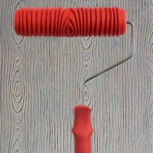 Upper 7 Inch Rodillo De Pintura Relieves Patron con Mango Plastico Decoracion Pared