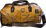 Artiglieria Fiorentina – Borsone Viaggio Uomo Vintage Pelle Conciata al Vegetale con la classica icona della Cartolina antica – Made in Italy