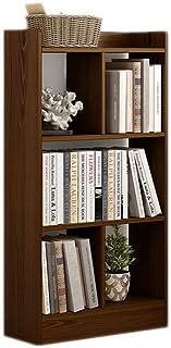 Étagère à échelle penchée Utilisation de bibliothèque à 5 cubes dans la chambre, organisateur carré de rangement en bois b...