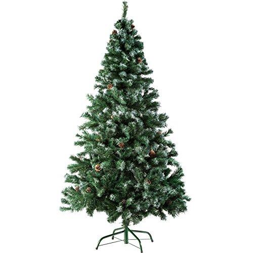 TecTake Sapin de Noël Artificiel avec Socle en Métal | Arbre de Noel - Diverses Couleurs et Tailles au Choix - (180 cm | 705 Branches | Vert | No. 402822)