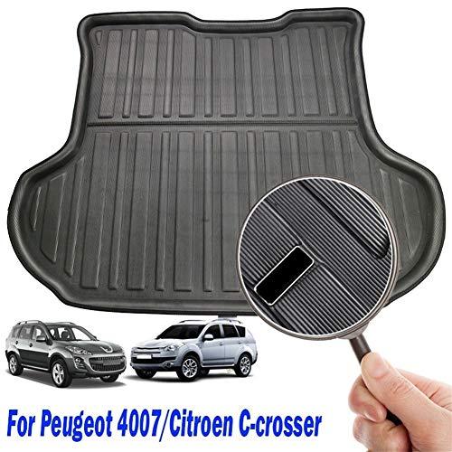 WEISHAN for Citroen C-Crosser Peugeot 4007 2007 - Cap Bandeja de alfombras de Arranque de línea de Carga Trasera del Tronco Alfombra del Piso 2012 2008 2009 2010 2011