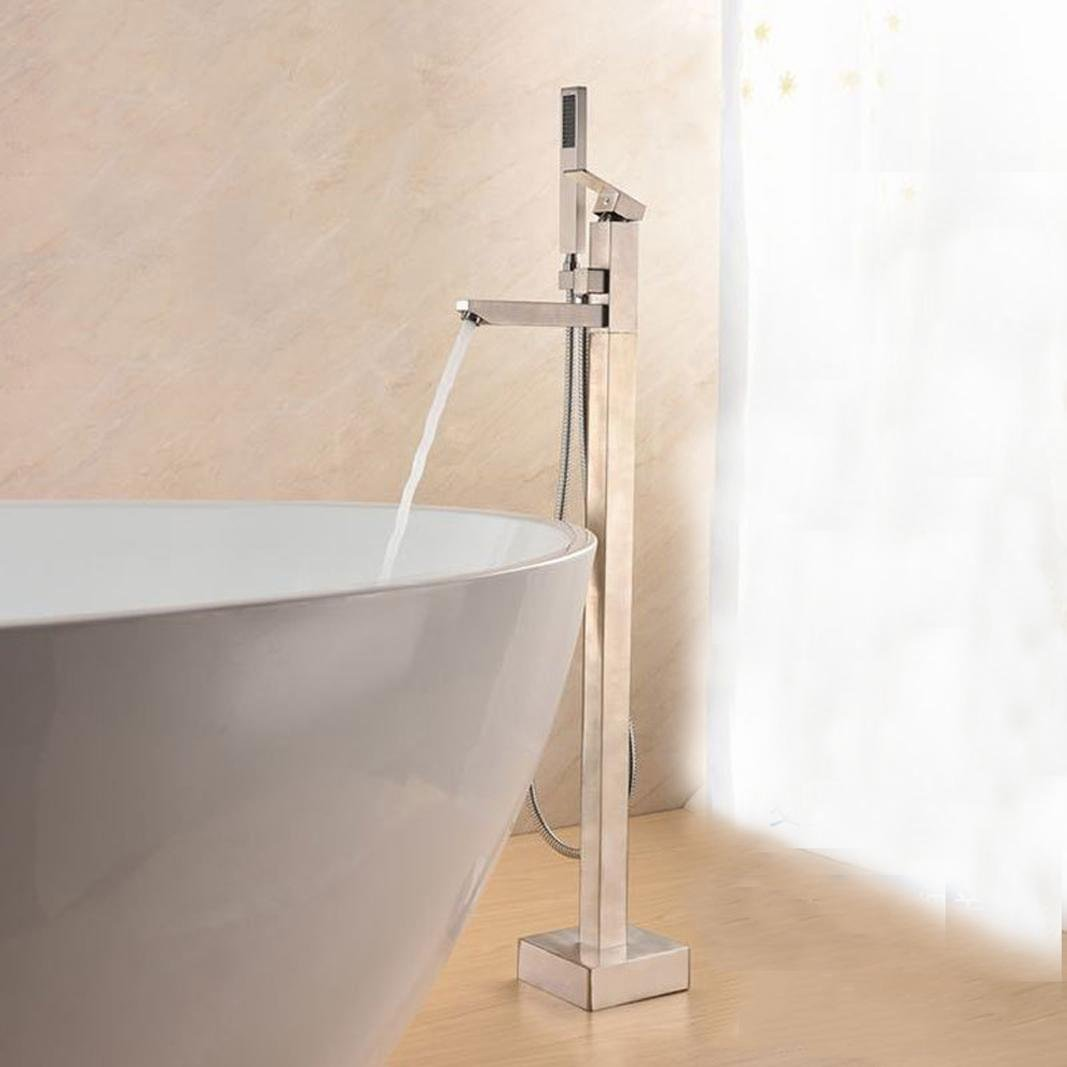 Grifo de baño de luxe-style bañera chrome-qualité double-type bañera caliente y fría Mixta batería, cobre: Amazon.es: Bricolaje y herramientas