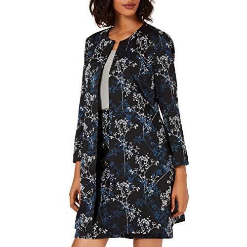 ALFANI Women's Printed Jacquard A-line Basic Jacket Top