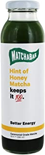 Matchabar, Matcha Hint Of Honey, 10 Fl Oz