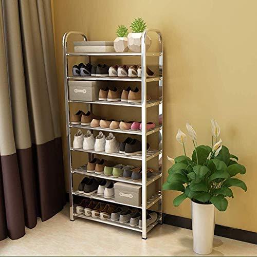 DXMRWJ Estante para Zapatos de 8 Niveles, Estante Organizador de Zapatos extraíble Multiusos, Estante para Zapatos Estable y Duradero, Blanco 60x25x129cm (24x10x51inch 1210 (Color: Blanco, tamaño: