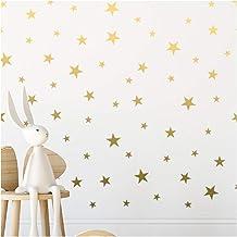 Gouden Ster Muurstickers (166 Decal Sterren) Muurstickers Verwijderbare Woondecoratie Gemakkelijk te pellen Stok Geschilde...