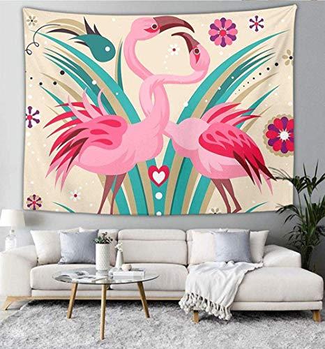 Tapiz Mandala Hippie Tapiz Bohemio Colgante de Pared sinuoso Flamenco Pareja Tapiz Colgante de Pared Dormitorio Indio decoración 150 cm x 200 cm