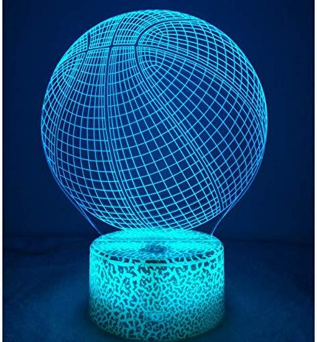 3D Basketball LED Lampe Art Déco Lampe Lumières LED Décoration Lampes Touch Control 7 Couleurs Change Veilleuse USB Powered Enfants Cadeau Anniversaire Noël Cadeaux