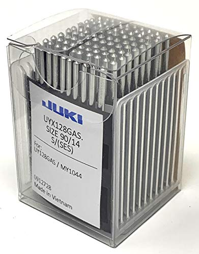 Juki Brand - Coverstitch Industrial Sewing Machine Ball Point Needles - Size (14/90) - (Box of 100 Needles) Juki Genuine Part - for Professional Use.
