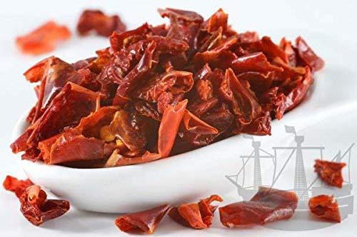 Paprikaflocken, ROT, geschnitten, 75g, zum Kochen, Grillen und für Gewürzmischungen - Bremer Gewürzhandel