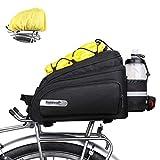 Rhinowalk Bike Trunk Bag 12L Bicycle Pannier Rear Rack Carrier Bag Bike Luggage Commuter Bag with Rain Cover Shoulder Strap