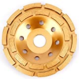 Heavy Duty Beton Schleifen Diamant Disc zweireihig 180mm 17,8cm gelb