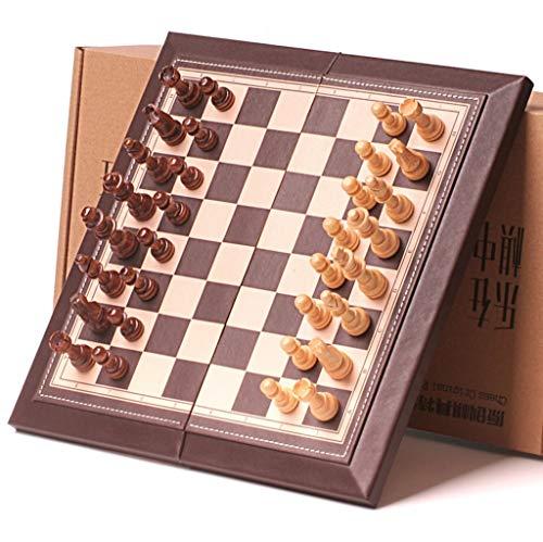 Juego de ajedrez magnético de madera, 30,5 x 30,5 cm, tablero magnético plegable con almacenamiento interior portátil plegable para viajes, juego de ajedrez y ajedrez (tamaño : 30 cm)