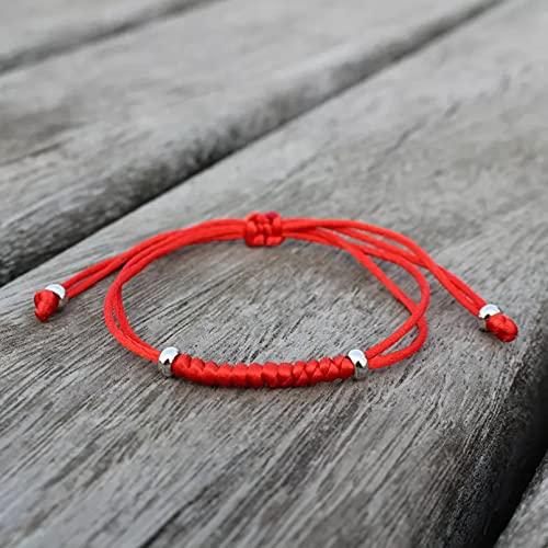 QiuYueShangMao Pulsera de Cuerda roja Tejida a Mano para Mujer Pulsera de Cuerda roja de la Suerte Pulsera de Hilo de Nudo King Kong joyería para Hombre Regalo de Amistad Pulsera de la Amistad