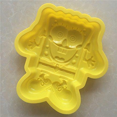 Spongebob Schwammkopf G012 Silikon Kuchen Backform Kuchen Muffin Cups Handgemachte Seife Formen Keks Schokolade Eiswürfel Tablett DIY