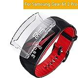 Ruentech Schutzhülle Kompatibel mit Samsung Gear Fit 2 Pro Schutzfolie Zubehör (White)