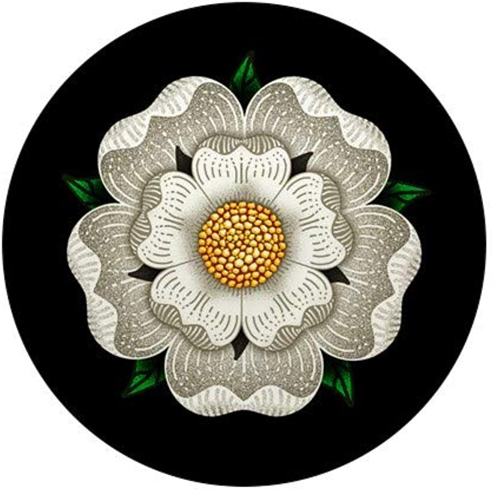 CafePress White Rose Of York Mini Discount mail order Button 1