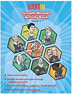 Giantim Growth Mindset Activity Book - Volume #1: Kids activities: Puzzles, Mazes, Connect the Dots, Memory games and so much more!
