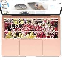 igsticker MacBook Air 13inch 2018 専用 キーボード用スキンシール キートップ ステッカー A1932 Apple マックブック エア ノートパソコン アクセサリー 保護 006400 フラワー 写真 花 フラワー