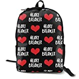 Heart Breaker - Black Adult Premium Travel Backpack, Water-Resistant College School...