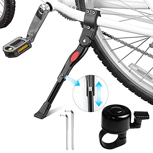 JOKILY Fahrradständer für 24-28 Zoll, Fahrradständer Einstellbarer Universal Hinterbauständer Seitenständer Aluminiumlegierung Fahrrad Ständer, Rennrad, Fahrräder und Klapprad, Höhenverstellbar