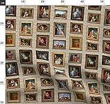 Puppenhaus, Gemälde, Kunst, Galerie, Marie Antoinette, Altmodisch, Puppe Stoffe - Individuell...