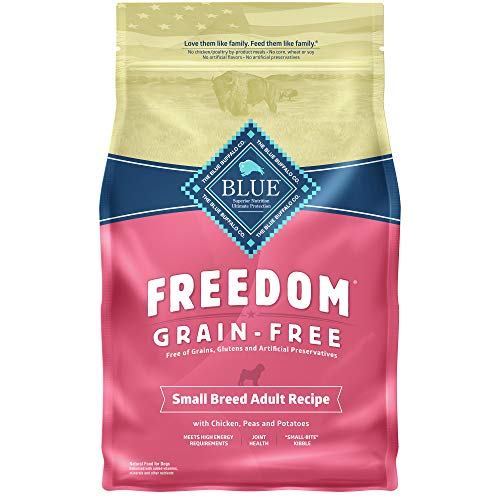 Blue Buffalo Freedom Grain Free Recipe for Dog, Small Breed Chicken Recipe, 4 lb