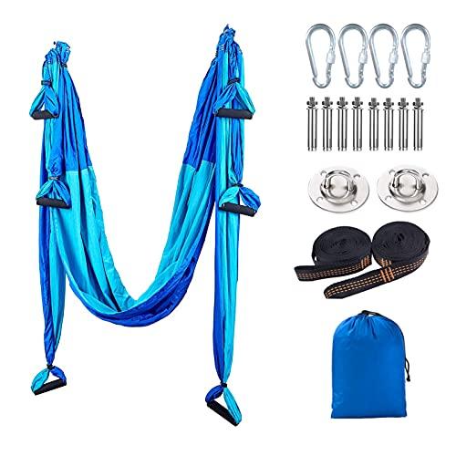 Columpio de Yoga Aéreo,antigravedad Aerial Hamaca de Yoga para Home Gym Fitness Pilates Body Shaping
