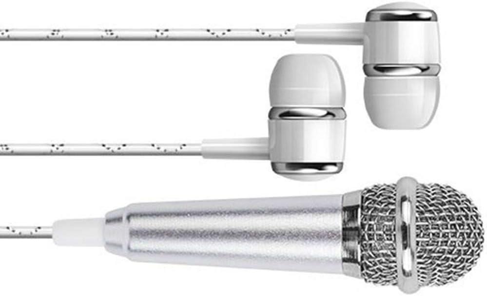 fgyhtyjuu Micr/ófono de Mano port/átil Mini est/éreo de 3,5 mm discurso del Estudio del micr/ófono de Audio del micr/ófono Inteligente del tel/éfono m/óvil Accesorios de Escritorio