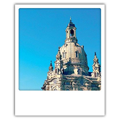Pickmotion PolaCards Dresden: Hochwertige Polaroid Postkarten im Retro Stil - Motiv: Barockschönheit - Frauenkirche