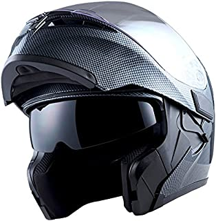 1Storm Motorcycle Modular Full Face Helmet Flip up Dual...